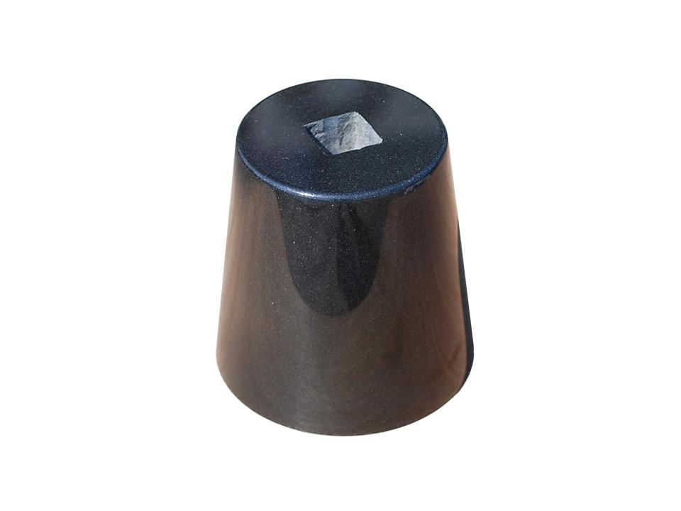 【国内加工】 【送料無料】黒御影石の束石、沓石上面5寸、高さ7寸
