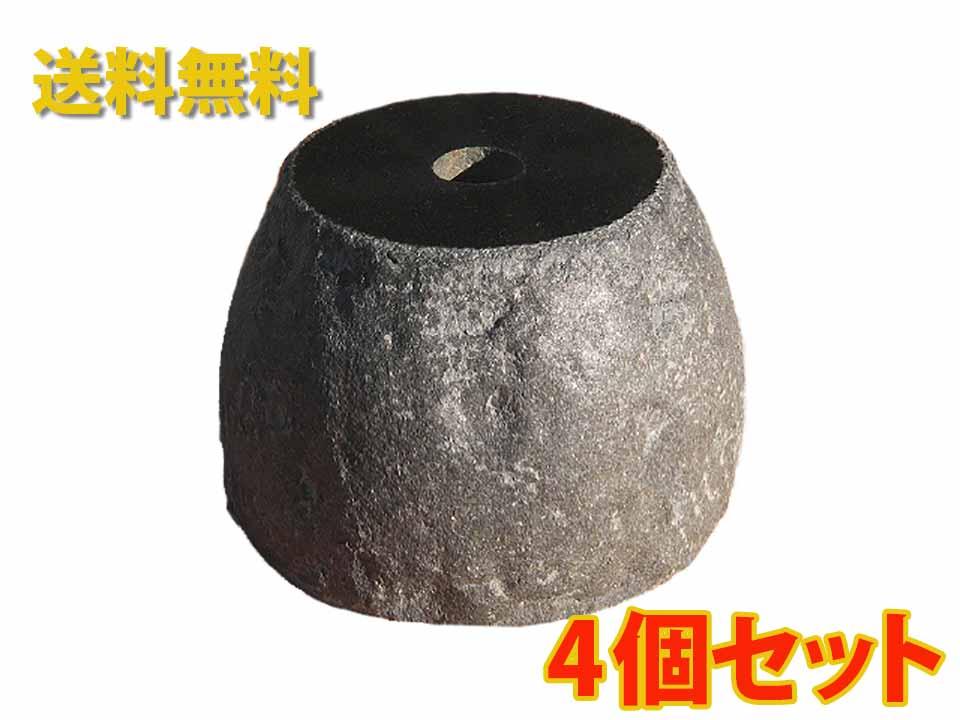 【国内加工】【4個セット】黒御影石の束石、沓石(上面磨き、側面自然風仕上げ)上面5寸~7寸、高さ5寸【送料無料】