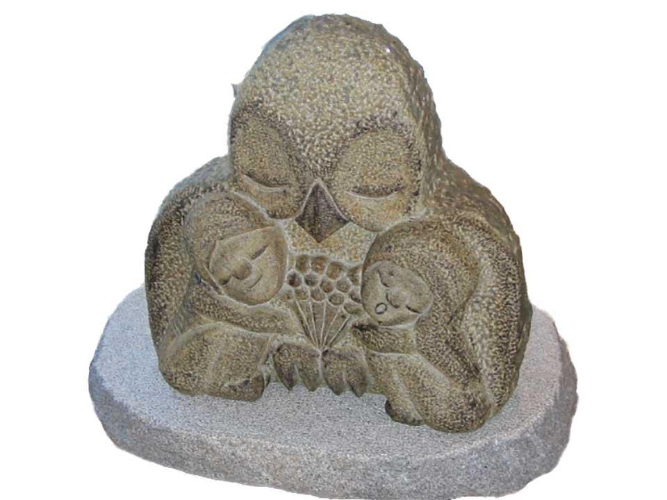 【ネット限定】 ふくろう国産御影石、着色約高さ60cm重さ210キロ神永大輔制作, 益城町:afb44fc3 --- anthonysullivan.biz
