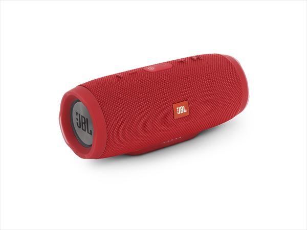 防水 ワイヤレス スピーカー Bluetooth スピーカー JBL CHARGE3 レッド 【JBLCHARGE3REDJN】 【送料無料】 重低音 大音量 野外 ブルートゥース スマートフォン スピーカー 【1年保証】
