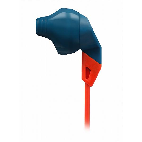 JBL 的抓地力 100 蓝 / 橙色运动提示 yahn (耳机)