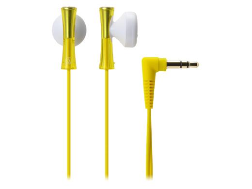軽いフィット感ではじけるFRESHサウンドのインナーイヤー型イヤホン audio-technica オーディオテクニカ ATH-J100-YL(イエロー) インナーイヤー型 イヤホン イヤフォン 【1年保証】