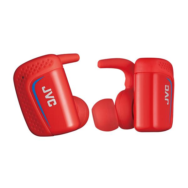 スポーツ向け Bluetooth イヤホン 完全ワイヤレスイヤホン JVC HA-ET900BT-R レッド 両耳 防水 左右分離型 IPX5 スポーツ向け イヤフォン 【送料無料】 【1年保証】