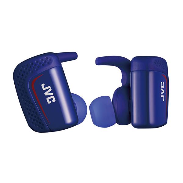 スポーツ向け Bluetooth イヤホン 完全ワイヤレスイヤホン JVC HA-ET900BT-A ブルー 両耳 防水 左右分離型 IPX5 スポーツ向け イヤフォン 【送料無料】 【1年保証】