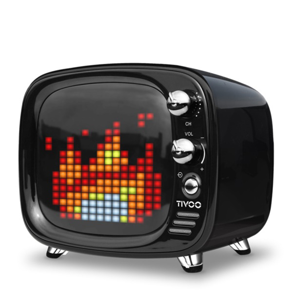 ワイヤレス スピーカー Bluetooth スピーカー DIVOOM Tivoo BLACK 【DIV-TIVOO-BK】【送料無料】 かわいい ギフト 【6ヶ月保証】
