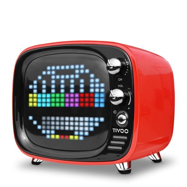 ワイヤレス スピーカー Bluetooth スピーカー DIVOOM Tivoo RED 【DIV-TIVOO-RD】【送料無料】 かわいい スピーカー 【6ヶ月保証】