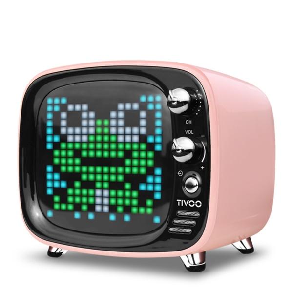ワイヤレス スピーカー Bluetooth スピーカー DIVOOM Tivoo PINK 【DIV-TIVOO-PK】【送料無料】 かわいい ギフト 【6ヶ月保証】