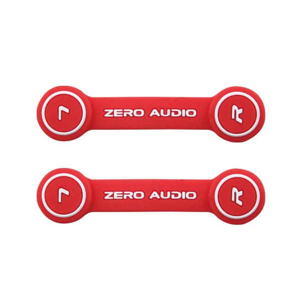 年末年始大決算 断線予防にも シリコン樹脂製マグネットイヤホンクリップ ZERO AUDIO ゼロオーディオ ヘッドホンクリップ レッド 新品未使用 ZA-CLP-RW イヤホンコード調整 イヤホンコードを束ねて持ち運びを容易にするクリップ クリップ イヤホン