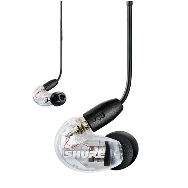 【新パッケージ】 高音質 イヤホン SHURE シュア SE215-CL+UNI-A カナル型 イヤホン 有線 重低音 高遮音性 イヤフォン 【SE215-CL-UNI-A】【送料無料】【2年保証】
