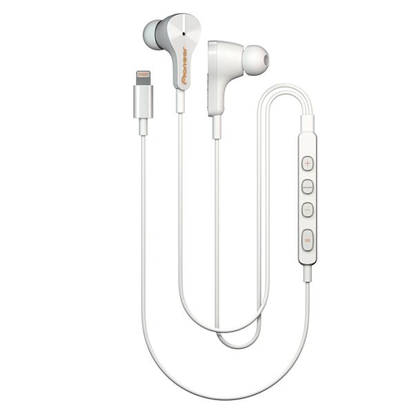 Pioneer パイオニア RAYZ SE-LTC3R-W アイス【送料無料】iPhone、iPod用Lighitning イヤホン ライトニング イヤフォン 【1年保証】