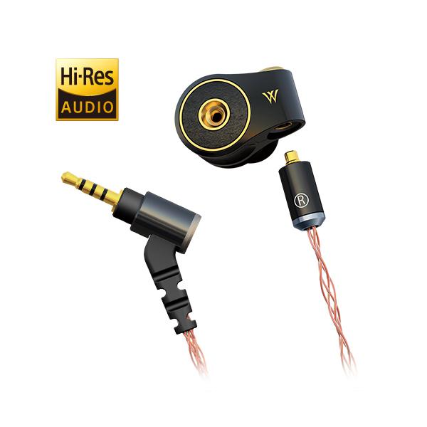 radius ラディウス HP-TWF32K Φ2.5mm plug バランス接続ケーブル付属モデル ドブルベ ヌメロトロワ ブラック【ハイレゾ対応 イヤホン イヤフォン】【送料無料】【1年保証】