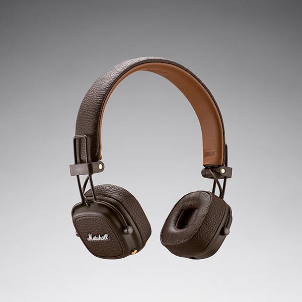 Marshall マーシャル Major III Bluetooth Brown ブルートゥース ワイヤレスヘッドホン ヘッドフォン ギフト プレゼント 【送料無料】【1年保証】