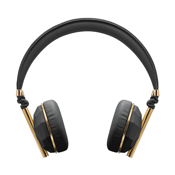 Caeden(ケイデン) Linea N°1 On Ear Headphones - Faceted Carbon & Gold (Apple Mic-3) iPhone対応マイク付きヘッドホン ヘッドフォン【送料無料】