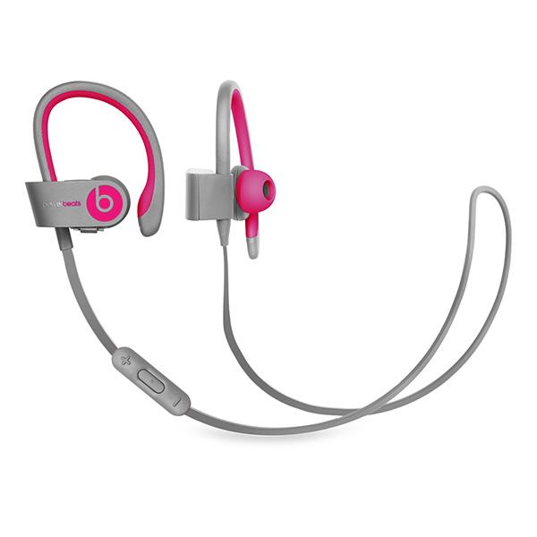 跳动的 Dr.Dre(Beatz) Powerbeats2 耳机-粉红色 / 灰色从蓝牙无线耳机怪物打品牌