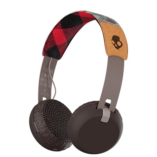 Skullcandy スカルキャンディー Grind Wireless TAN/CAMO/BROWN【S5GBJW-558】【送料無料】Bluetooth ブルートゥースワイヤレスヘッドホン ヘッドフォン 【1年保証】