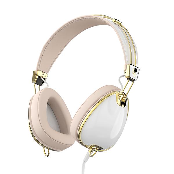 【セール対象品】Skullcandy スカルキャンディー Standout White/Brown/Gold Mic3【S6AVM-J534】【送料無料】女性のために作られた、女性のためのヘッドホン ヘッドフォン【おしゃれなバッグ付き】