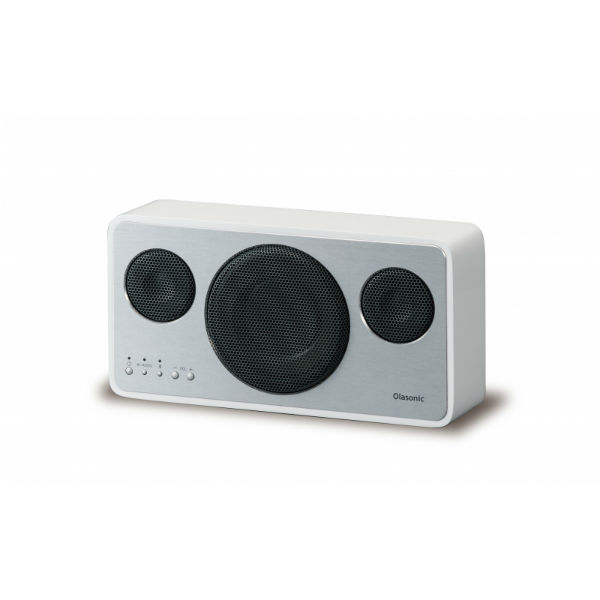 OLASONIC オラソニック IA-BT7 W (シルクホワイト) Bluetooth ワイヤレス スピーカー 【送料無料】 【1年保証】