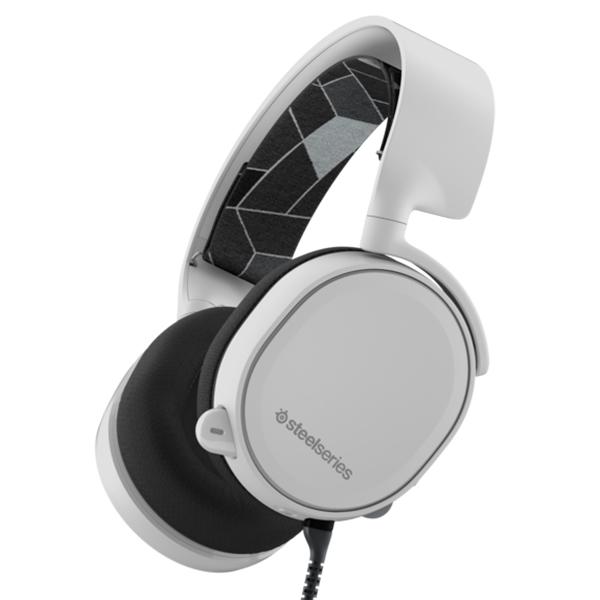 【新製品】 ゲーミングヘッドセット SteelSeries スティールシリーズ Arctis 3 White (2019 Edition) PC/PS4/Xbox One/Switch/iPhone/スマートフォン対応 【送料無料】【1年保証】