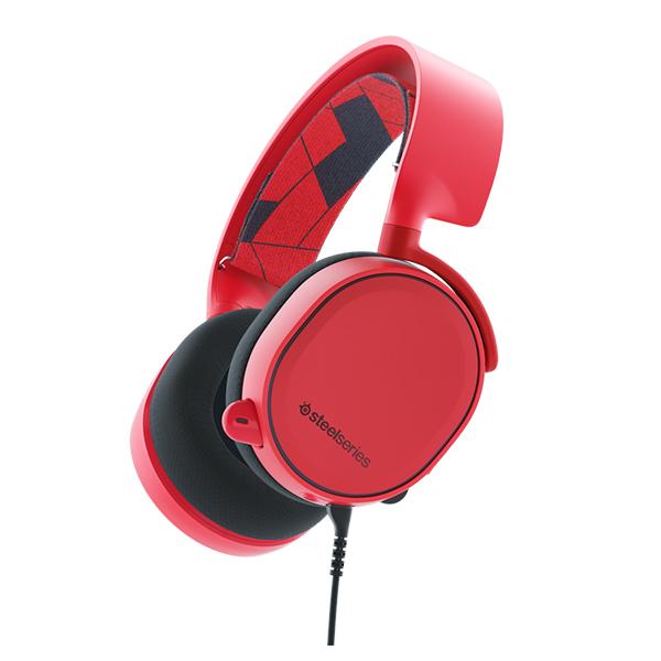 ゲーミングヘッドセット SteelSeries スティールシリーズ Arctis 3 Solar Red PC/PS4/Xbox One/Switch/iPhone/スマートフォン対応 【1年保証】