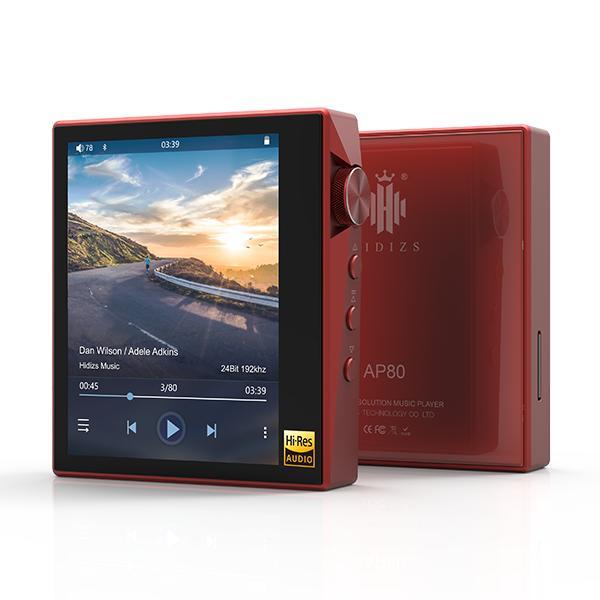 Hidizs ヒディス AP80 Red ハイレゾ対応デジタルオーディオプレイヤー【送料無料】 【1年保証】