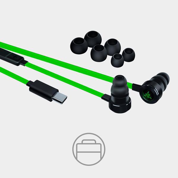 Android用 ゲーム用イヤホン Razer レイザー Hammerhead USB-C (RZ04-02420100-R3A1) 【送料無料】USB TypeC端子採用 高音質カナル型イヤホン 【1年保証】