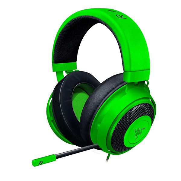 ゲーミングヘッドセット Razer レイザー Kraken Green 【RZ04-02830200-R3M1】 PC PS4 Xbox One対応 人気 ボイスチャット オンライン 【2年保証】【送料無料】
