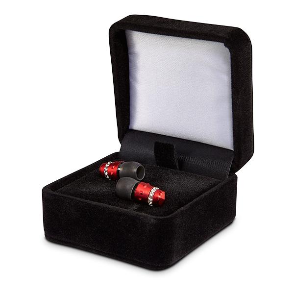 かわいい イヤホン イヤフォン maroo(マルー) ICE Collection Scarlet 【MA-EP8004】 ファッションイヤホン・スカーレット/レッド 【1年保証】 【送料無料】