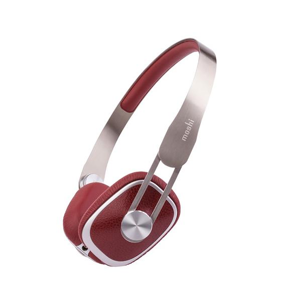 moshi audio モシオーディオ Avanti Burgundy Red 【mo-avnt-rd】【iPhone対応リモコン付きヘッドホン ヘッドフォン】【送料無料】 【2年保証】