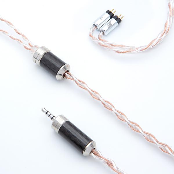 EFFECT AUDIO エフェクトオーディオ ErosII cable(2Pin to 2.5mm Balanced)【送料無料】【AK2.5mm4極バランス / カスタムIEM 2pin】2Pin端子イヤホン用リケーブル 【1年保証】