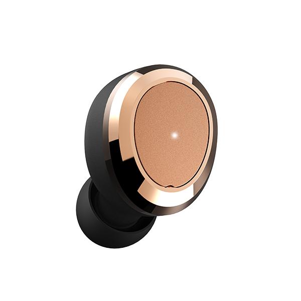 Bluetooth イヤホン 完全ワイヤレスイヤホン Dearear Oval Black/R Gold 【DE-0101】 【送料無料】 トゥルーワイヤレス 両耳 左右分離型 フルワイヤレス Bluetooth イヤフォン 【1年保証】