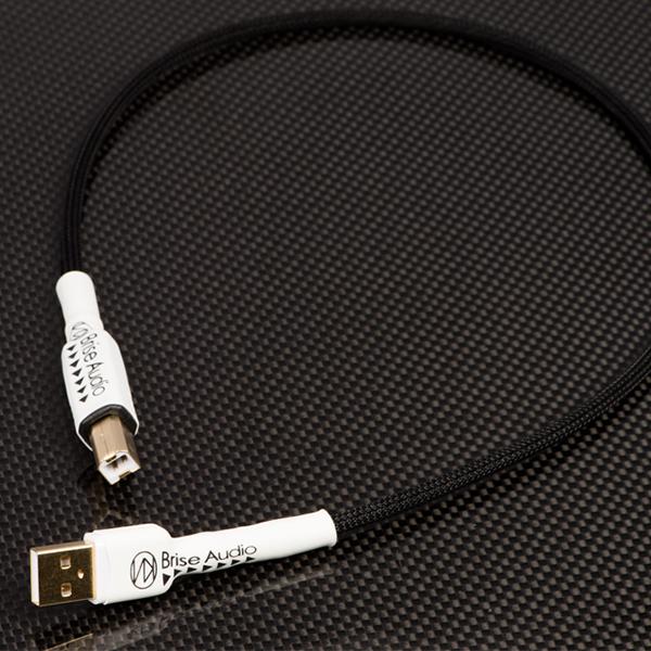 細く取り回しがし易く 高い解像度と鮮度感が特徴のオーディオ向けUSBケーブル お取り寄せ Brise Audio ブリスオーディオ STD-001USB 迅速な対応で商品をお届け致します 30cm 1年保証 希少 PCオーディオ向けA-BタイプUSBケーブル 送料無料 Class2.0対応 USB