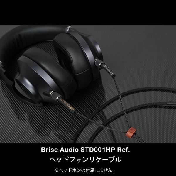 Brise Audio ブリスオーディオ STD001HP [Ref. MDR-Z1R,MDR-Z7,EAH-T700対応ネジ式端子-6.3mm標準ステレオプラグ 1.3m]【送料無料(代引き不可)】ヘッドホンケーブル 【1年保証】