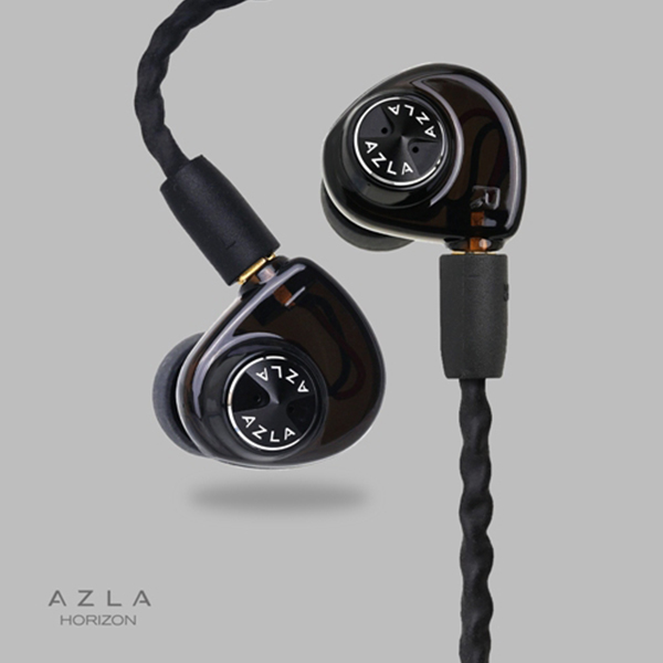 イヤホン 高音質 【AZLA-HORIZON-BLK】 イヤフォン【送料無料】【1年保証】 Ebony AZLA(アズラ) AZLA カナル型 Black HORIZON