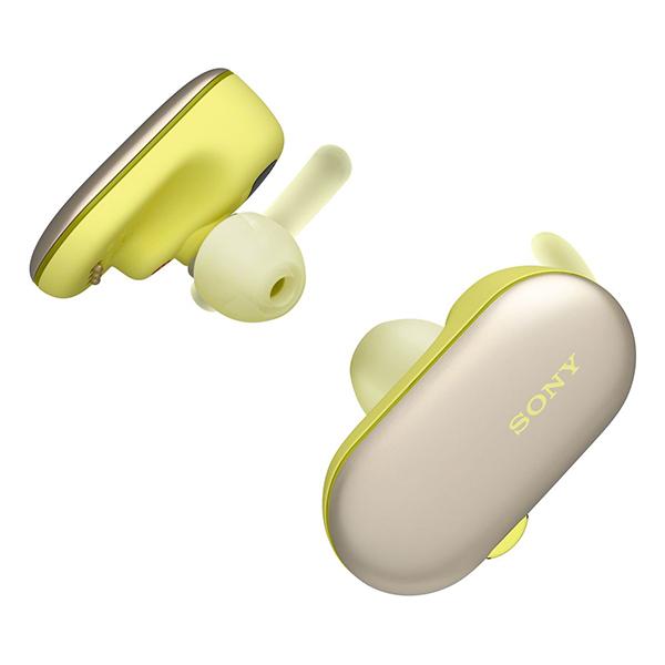 【新製品】 防水 完全ワイヤレスイヤホン 4GBメモリ搭載 SONY ソニー WF-SP900 YM イエロー 【送料無料】 Bluetooth 両耳 左右分離型 IPX8 iPhoneX iPhoneXS iPhoneXR イヤフォン 【1年保証】 フルワイヤレスイヤホン
