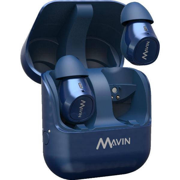 【新製品】 完全ワイヤレスイヤホン Bluetooth イヤホン Mavin Air-X ブルー 【AIR-X/BE】 両耳 左右分離型 フルワイヤレス Bluetooth イヤフォン 【1年保証】 iPhone におすすめのイヤホン 【送料無料】