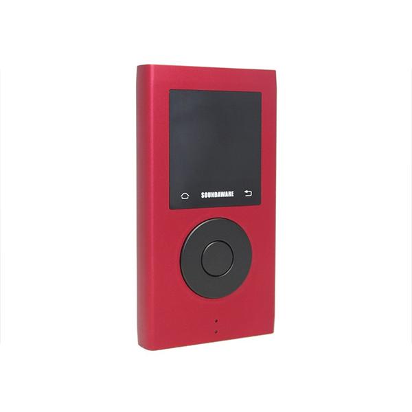 【お取り寄せ】 SOUNDAWARE M2PRO Red レッド ポータブル オーディオ プレイヤー 音楽 プレーヤー MP3 【送料無料】【1年保証】