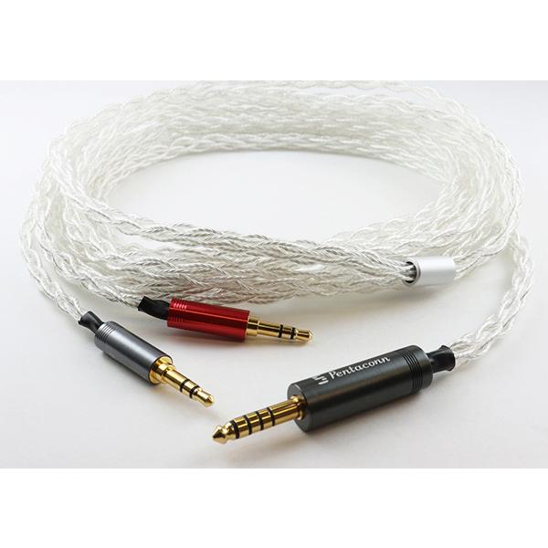 日本ディックス Φ4.4バランス接続-Φ3.5×2 純銀ケーブル 【NBB1-14-007-30】 【送料無料】【1年保証】