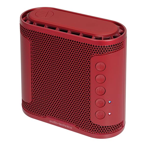 audio-technica オーディオテクニカ AT-SBS50BT RD 【送料無料】 ポータブル ワイヤレス 重低音 Bluetooth IPX5 防水 スピーカー 【1年保証】