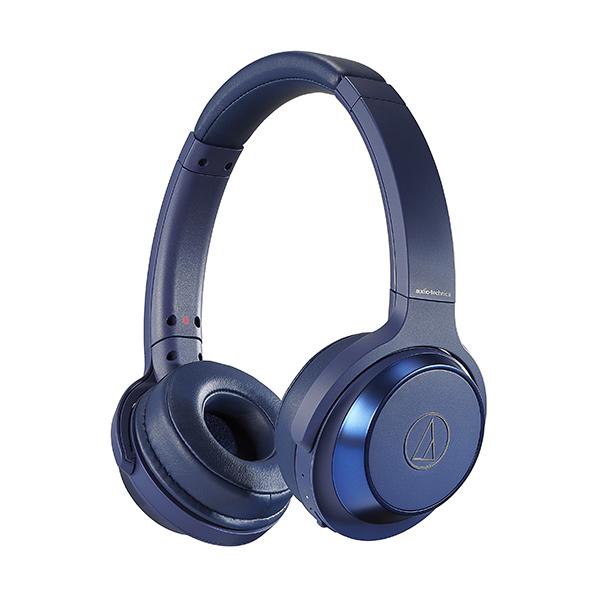 【連続70時間再生】 audio-technica オーディオテクニカ ATH-WS330BT BL ブルー Bluetooth ブルートゥース ワイヤレス ヘッドホン 【送料無料】【1年保証】