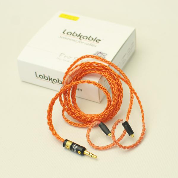 Labkable ラブケーブル Orange Road MMCX(8芯)1.2m MMCXケーブル/イヤホン用リケーブル【送料無料】 【1年保証】