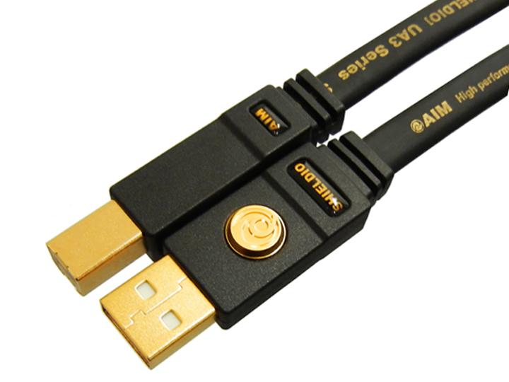 【お取り寄せ】 AIM電子(エイム電子) SHIELDIO UA3 【UA3-R005】【送料無料】オーディオUSBケーブル/0.5m