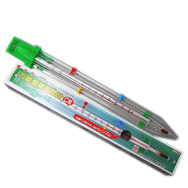 空気や土 水の温度が計れる自然観察に使える温度計 バーゲンセール 超人気 専門店 万能型棒温度計C型 あす楽