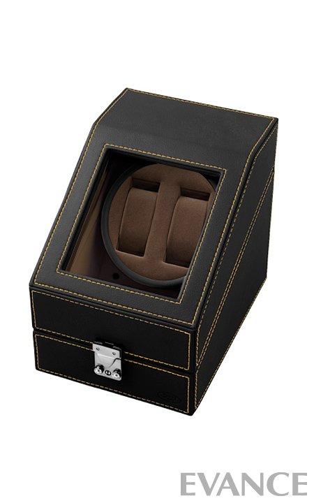 ワインディングマシーン(2本用) SP43012LBK【腕時計】 腕時計ケース 腕時計コレクションボックス ウォッチボックス 腕時計ボックス 腕時計収納ケース 時計ケース 収納ケース 腕時計 ウォッチ ディスプレイ 時計 観賞用 エバンス