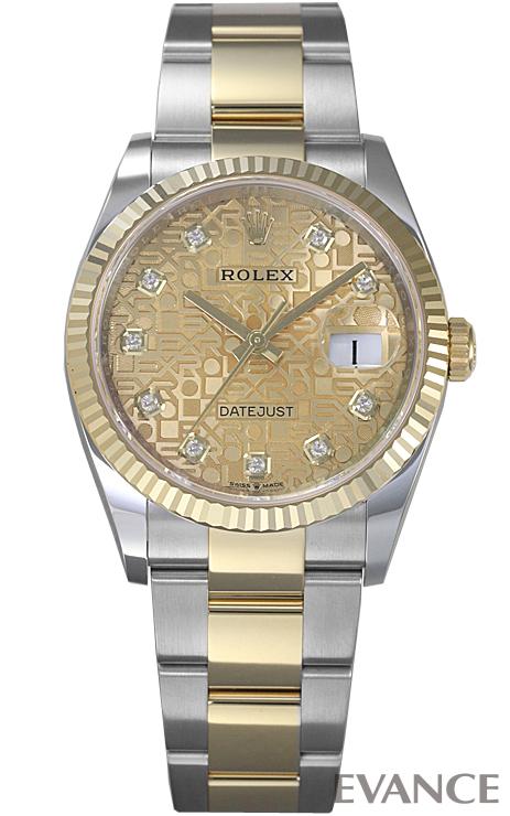 ロレックス デイトジャスト36 126233G シャンパン彫りコンピューター メンズ ROLEX 【新品】【腕時計】