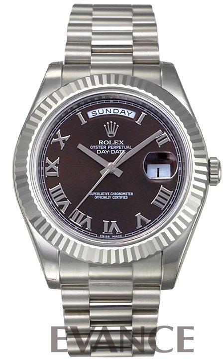 ロレックス デイデイトII 218239 チョコレート ローマ ROLEX 【新品】【腕時計】