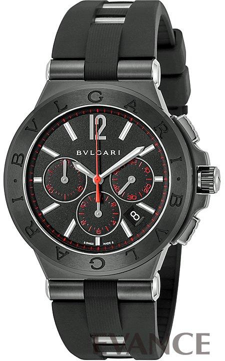 ブルガリ ディアゴノ ウルトラネロ クロノ DG42BBSCVDCH/1 ブラック メンズ BVLGARI 【新品】【腕時計】