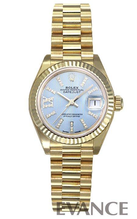 ロレックス デイトジャスト28 279178G コーンフラワーブルー レディース ROLEX 【新品】【腕時計】