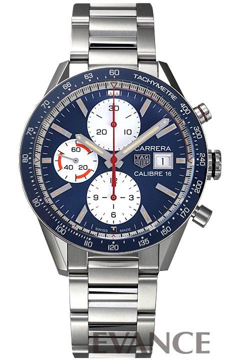 タグ・ホイヤー カレラ クロノグラフ キャリバー16 CV201AR.BA0715 ブルー メンズ TAG HEUER 【新品】【腕時計】