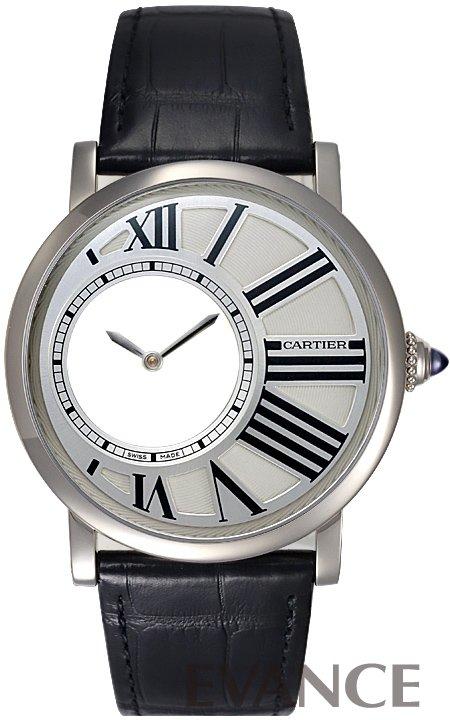 カルティエ ロトンド ドゥ カルティエ ミステリアス アワー W1556224 シルバー メンズ CARTIER 【新品】【腕時計】