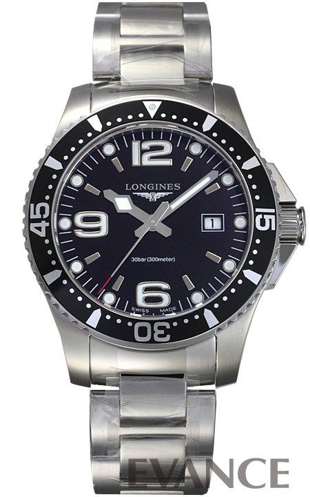 ロンジン ハイドロコンクエスト L3.730.4.56.6 ブラック メンズ LONGINES 【新品】【腕時計】